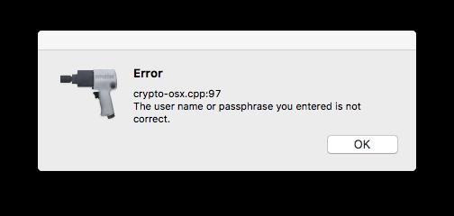 Fix Cydia Impactor crypto-osx cpp:97 error
